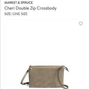 Market Spruce Cheri Double ZIP Crossbody